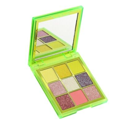 New Huda Beauty Obsessions NEON GREEN Eyeshadow Palette Pressed Pigment NIB