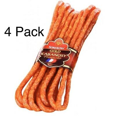 Sokolow Kabanosy Francuskiecookedsmoked And Dried Pork Sausage 4 Pack