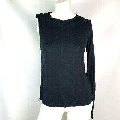 Zara women's top shirt size small black one long sleeve NWT