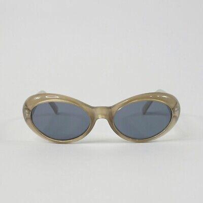 Vintage Gianni Versace Oval Beige Gold Sunglasses