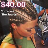Want braids, cornrows or your extensions sewed in?