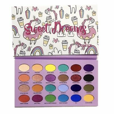 Prolux Sweet Dreams Eyeshadow Palette 24 Colors Cruelty Free Pigmented Eyes (Color Dreams)