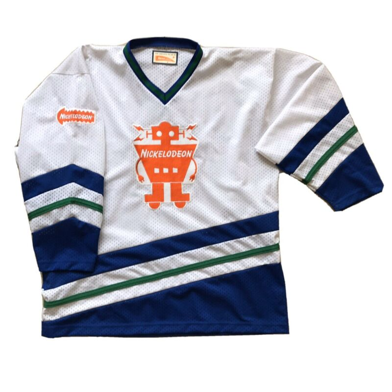 📺 Rare Nickelodeon Show Hockey Jersey Shirt Uniform Vintage LOGO Collectible, L