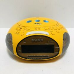 Sony Dream Machine Psyc ICF-CD831 CD Player AM FM Dual Alarm Clock Radio Yellow
