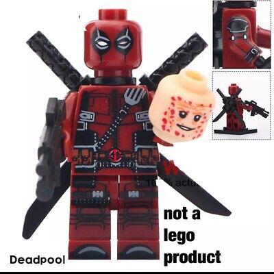 Custom Minifigure - fortnite DEADPOOL- USA seller
