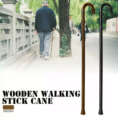 Wood Cane | Wooden Walking Cane With Rubber Tip | Carex Roun