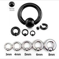 Grande Calibro Cbr (captive Bead Ring) Con Anello Anello Piercing Cerchio Pa -  - ebay.it