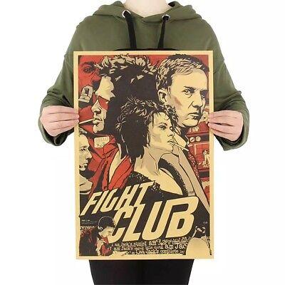 Fight Club Brad Pitt Tyler Durden Poster Vintage Deko Film DVD Plakat Wandbild