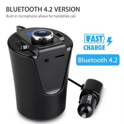 Bluetooth Car FM Transmitter Wireless mp3 player Radio Adapter kit charger 2 usb
