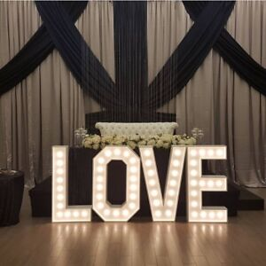 4ft Marquee Letters Set $250