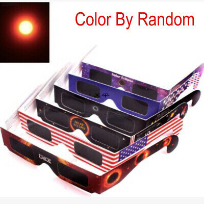 10pcs/lot Solar Eclipse Glasses paper frame protect your eyes From Solar Eclipse
