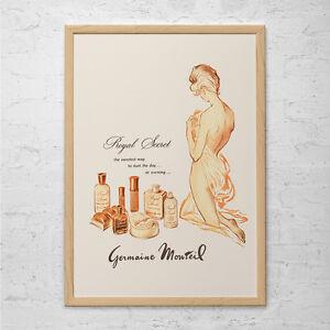 vintage fashion advertisement germaine monteil perfume