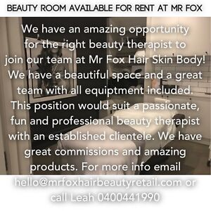 Beauty Room for rent at Mr Fox Hair Skin Body in Mount Martha Mount Martha Mornington Peninsula Preview