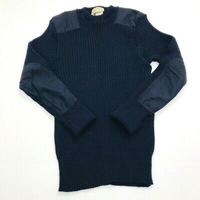 Used, Vintage Cabellas Mens 44 (Small) 100% Wool Sweater Made in England Blue (351) for sale  Shipping to Canada