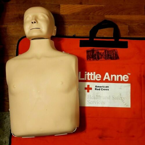 Little Anne fire rescue CPR certified practice Mannequin red cross