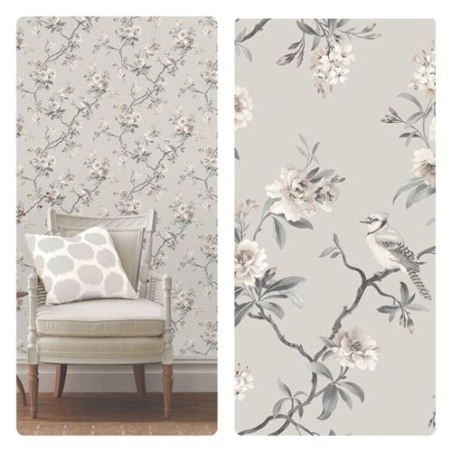 New, Chinoiserie Stone Floral Wallpaper, FD40764, Free Shipping