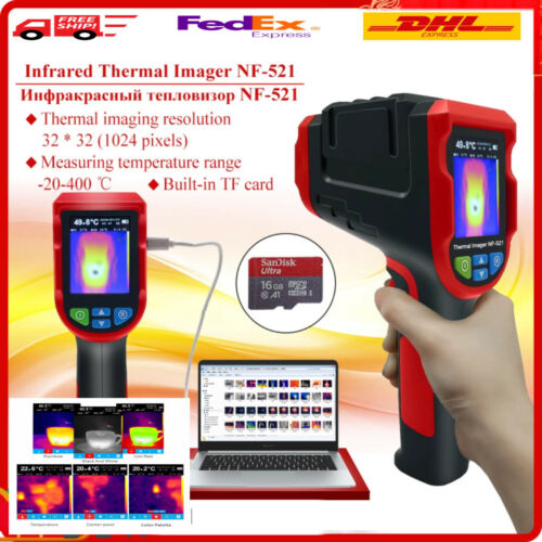Handheld Industrial Infrared Thermal Imager Camera  200000 Pixels 8GB micro Card