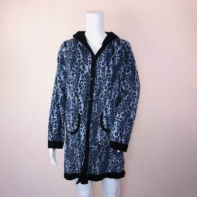 Carole Hochman Large Sleeping Jacket Heavenly Sleepwear Fleece Purple Animal  (Heavenly Sleepwear)
