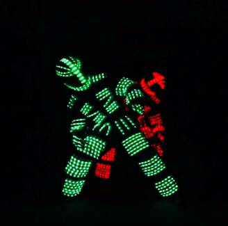 'WIRED' LED Robot Dancers for Hire, Corporate Entertainment