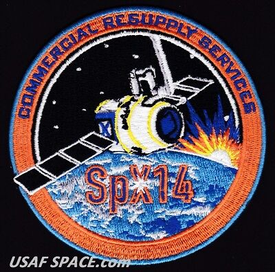 NEW SPX-14 - SPACEX CRS-14 NASA COMMERCIAL ISS RESUPPLY ORIGINAL AB Emblem PATCH