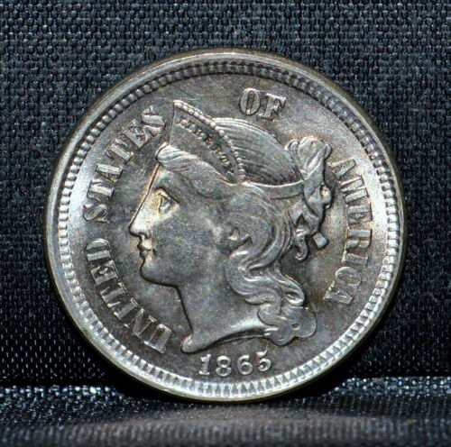 1865 3 CENT NICKEL ✪ BU UNCIRCULATED ✪ 3CN 3C UNC L@@K NOW CHOICE CH B4◢TRUSTED◣