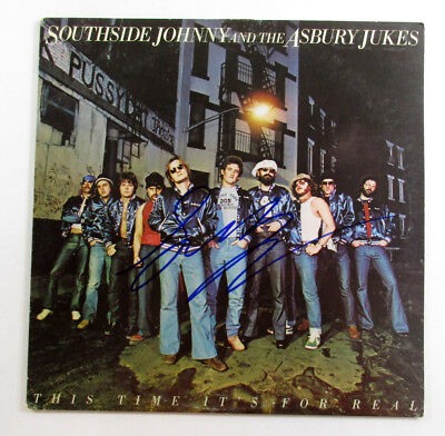 Southside Johnny Signed Album Asbury Jukes This Time Its For Real Auto Df017065