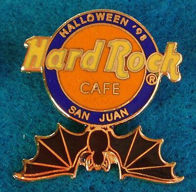 SAN JUAN PR HALLOWEEN BLACK VAMPIRE BAT LOGO 1998 SERIES Hard Rock Cafe PIN