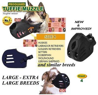 XL Groß Tuffie Hundemaulkorb Komfort Kein biss Heavy Duty Schnell