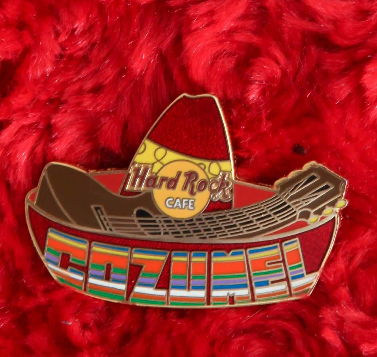 Hard Rock Cafe Pin COZUMEL Sombrero MARIACHI Hat Guitar Rainbow Lapel Logo - $14.99