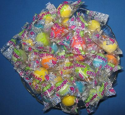 Sour Bubble Gum - Dubble Bubble Cry Baby Sour Bubble Gum 200 ct Wrapped