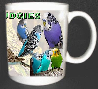 I LOVE BUDGIES COFFEE MUG LIMITED EDITION, BUDGERIGAR