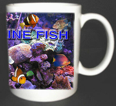 I LOVE MARINE FISH COFFEE MUG, LIMITED EDITION MARINE AQUARIUM PERSONALISED GIFT