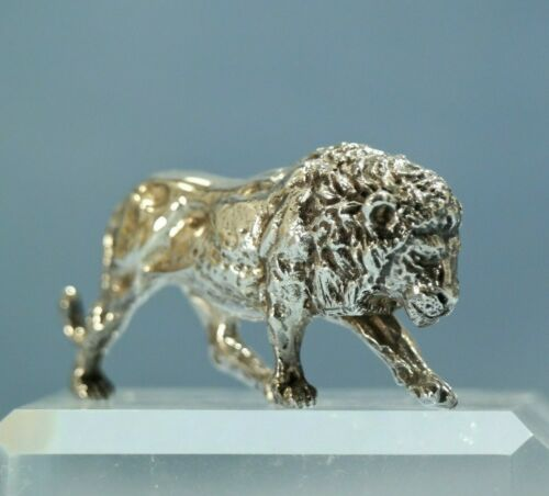 Sterling Silver Figure of a Lion 20th Century