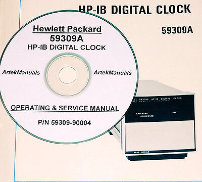 Hp Hewlett Packard 59309a Hp-ib Digital Clock Operating Service Manual