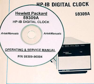Hp Hewlett Packard 59309a Hp-ib Digital Clock Operating Service Manual
