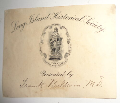 Long Island Historical Society Ex-Libris Bookplate