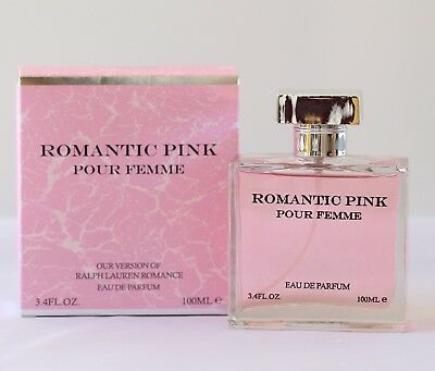 ROMANTIC PINK WOMEN EAU DE PARFUM PERFUME 3.4 OZ by LOVALI FRAGRANCES (Romantic Scent)