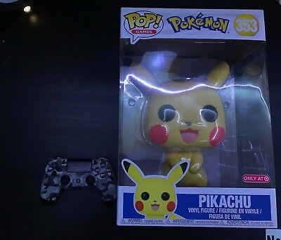 "Funko Pop Pikachu Exclusive Vinyl Figure 10"" Brand New in Box"