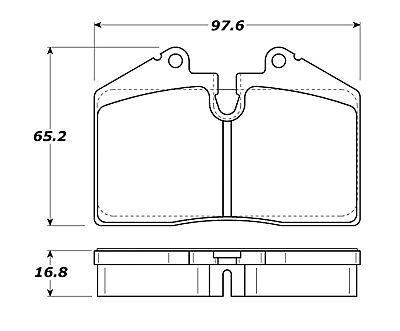 Disc Brake Pad Set-Street Brake Pads Rear,Front Stoptech 308.06080