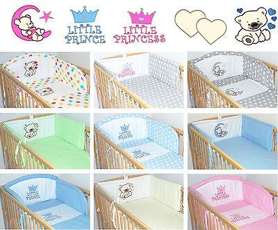 Nestchen Mit Applikation Bettumrandung, Baby Kinder  190 cm lang für Bett 70x140