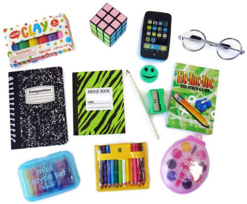 "School Supplies Set for 18"" American Girl Dolls Accessories Silver Eyeglasses"