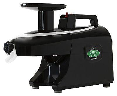 Tribest Greenstar Elite GSE-5010 Jumbo Twin Gear Slow Masticating Juicer Black for sale  Whittier