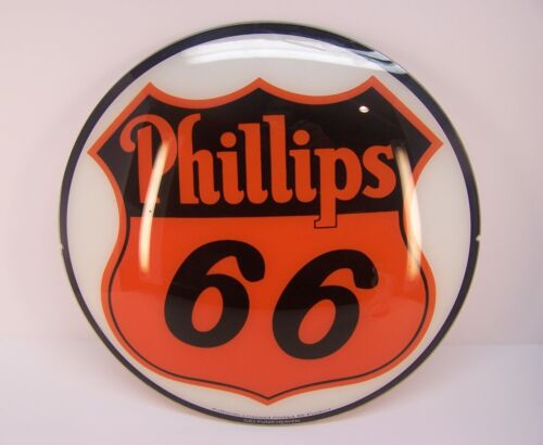 PHILLIPS 66 Replacement Glass Lens for Gas Pump Globe - GAS PUMP HEAVEN