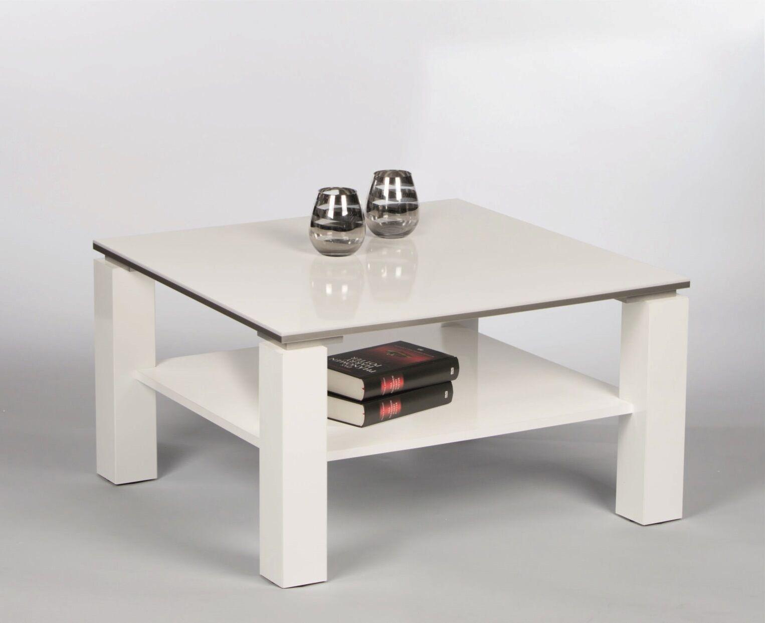 Design Beistelltisch 2er Set Division 50cm Hochglanz