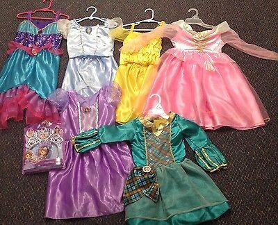Lot Of  6 Disney Princess Dress Up Play Costumes