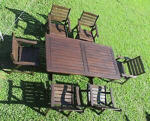 REFURBISHED KWILA 7 PIECE COURTYARD OUTDOOR SETTING CAN DELIVERY Aspley Brisbane North East Preview