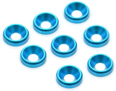 Apex Rc Products Blue 3Mm Aluminum Counter Sunk Screw Washers  6555