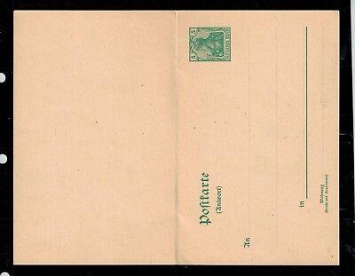 Deutsches Reich Postkarte P 61 mit Frage und Antwortteil -int.Nr.113