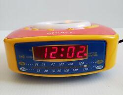 Radio Shack Optimus 12-1616A AM FM Clock Radio Kids Alarm Clock