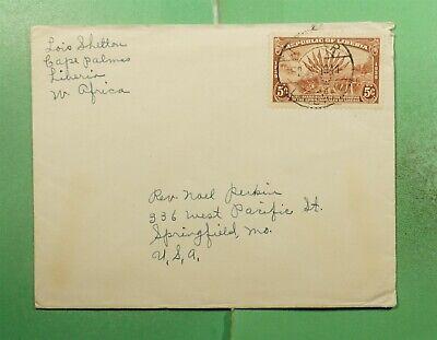 DR WHO 1941 LIBERIA CAPE PALMAS TO USA  g16014